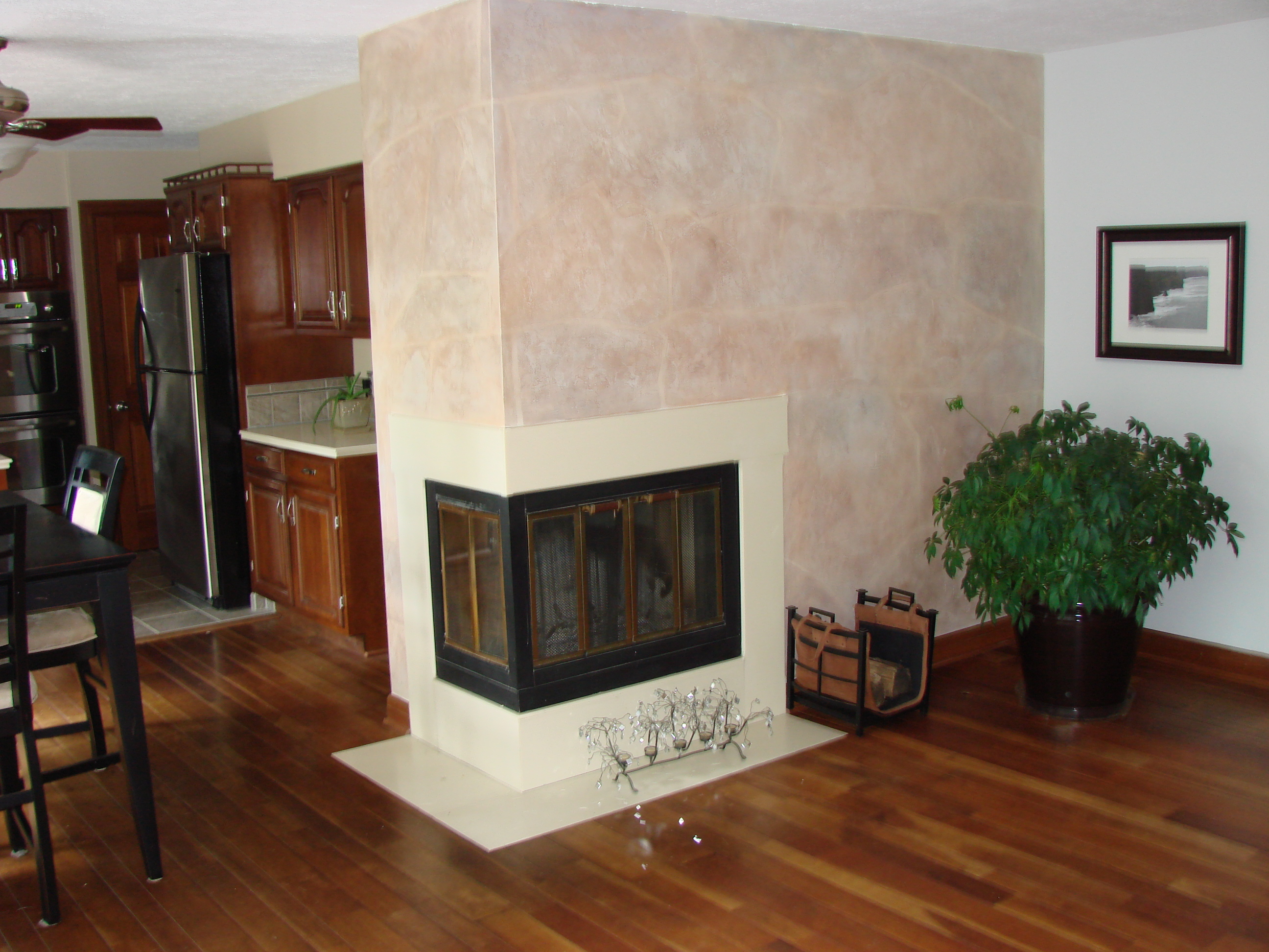 Faux Finish on fire place